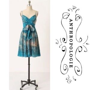 Lil for Anthropologie Caballo Falls Silk Dress